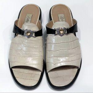 Brighton Mule slip on sandal Alligator leather